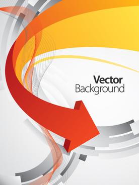set of concept fold arrow vector backgrounds