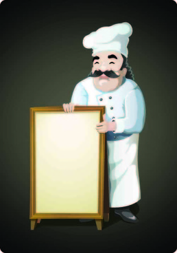 set of cooks and waiters elements vector
