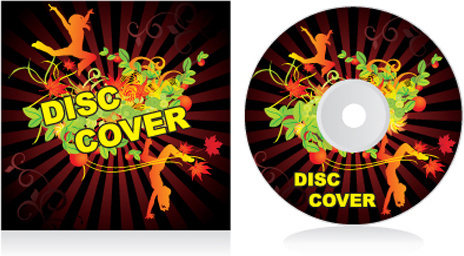 set of creative cd cover design vector graphics