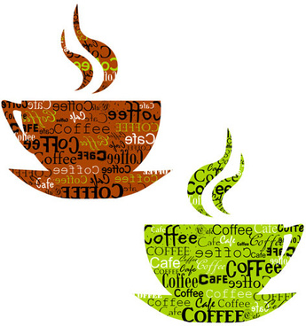 set of creative coffee design elements vector