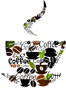 set of creative coffee design elements vector