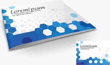 set of creative magazine cover design vector