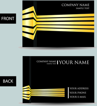 set of creative modern business cards vector - 3 D Business Card