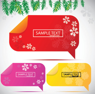 set of creative speech labels vector