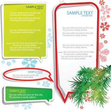 set of creative speech labels vector