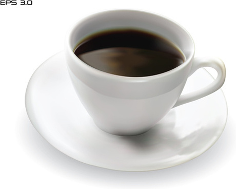 set of cup with coffee design vector