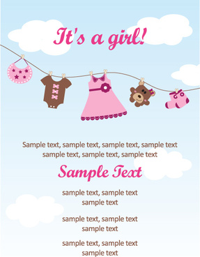 set of cute baby backgrounds vector