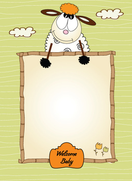 set of cute children frame vector graphic