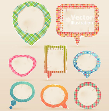 set of cute speech bubbles vector