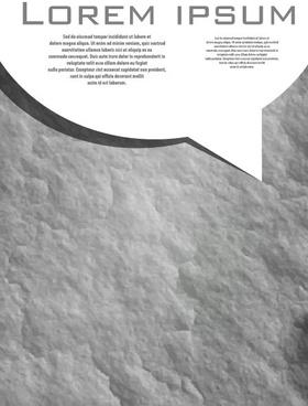 set of dark cover brochure vector background