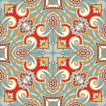 set of decorative pattern design vector