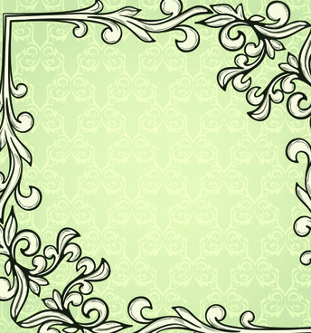 set of delicate frames design vector graphic