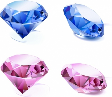 Set of diamonds