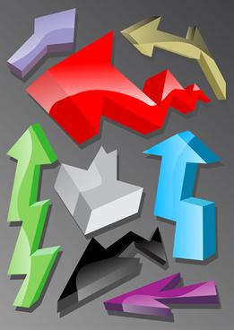 set of different arrow mix vector