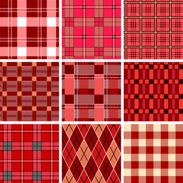 set of different fabric patterns vector