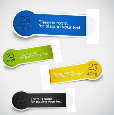 set of different information sticker vector