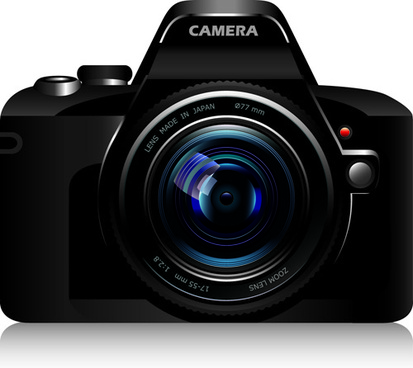 set of different photo camera elements vector