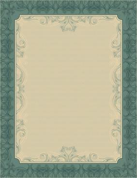 set of diploma certificate frame design vector