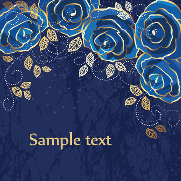 set of drawing flower vector backgrounds vector