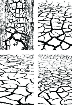 set of dry land pattern design vector graphic