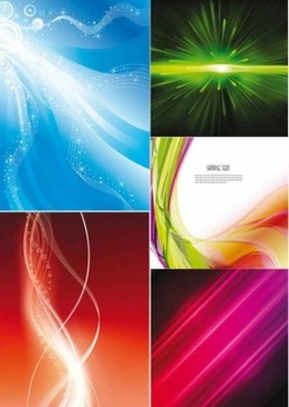 set of dynamic lines background vector
