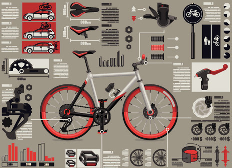 set of economy elements infographics design vector