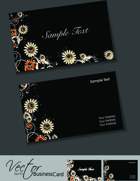 Black and gold lined elegant business card free vector in adobe set of elegant business cards vector reheart Choice Image