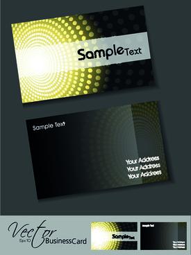 set of elegant business cards vector