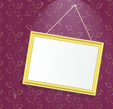 set of empty frame hanging on the wall vector graphic