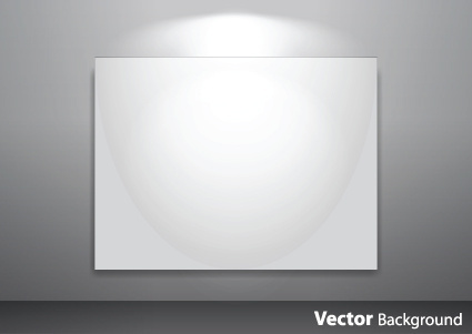 set of empty gallery wall with lights background