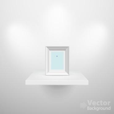 set of empty white interior backgrounds design vector