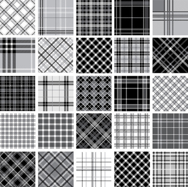 set of fabric patterns vector