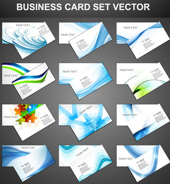 set of fashion business cards design vector