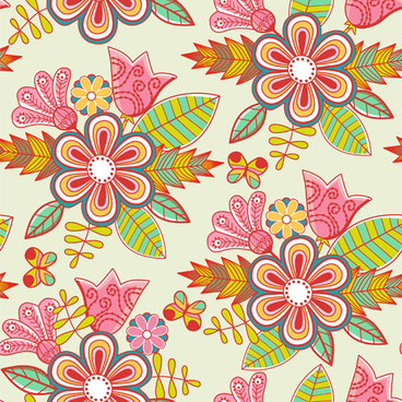 set of floral patterns elements vector