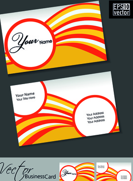set of flyer cover and business card vector