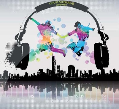 set of flyer music party design elements vector