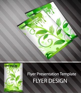 set of flyer presentation template design vector