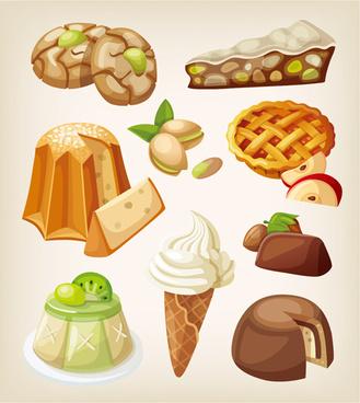 set of food illustration vectors