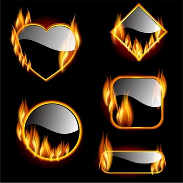 Fire frame free vector download (6,569 Free vector) for commercial ...