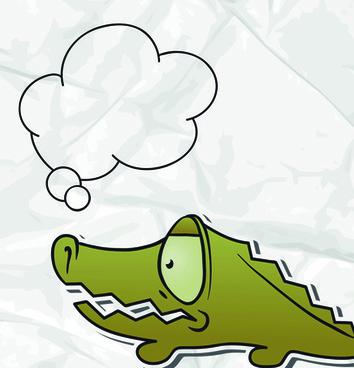 set of funny cartoon animals cloud to talk design vector