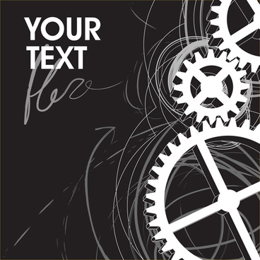 set of gears assemble vector backgrounds