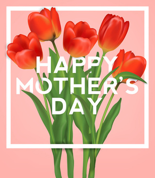 set of happy mother039s day art background vector