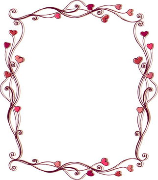 Elegant Set Of Heart Frame Vector