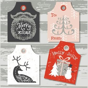set of holidays labels