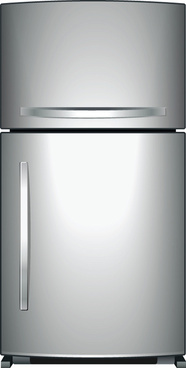 set of home appliances refrigerator design vector