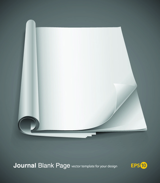 set of journal blank page design vector