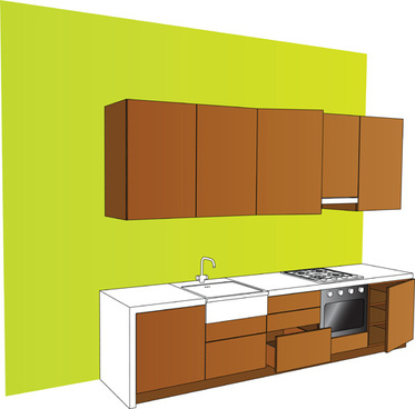 Kitchen Cabinet Vector Free Vector Download 435 Free Vector For