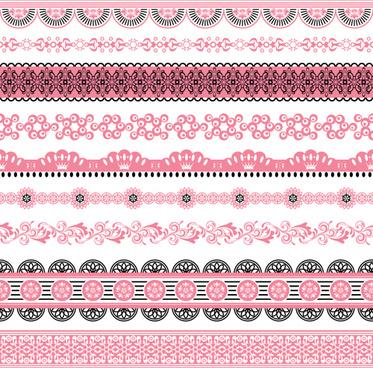 set of lace ornament mix vector