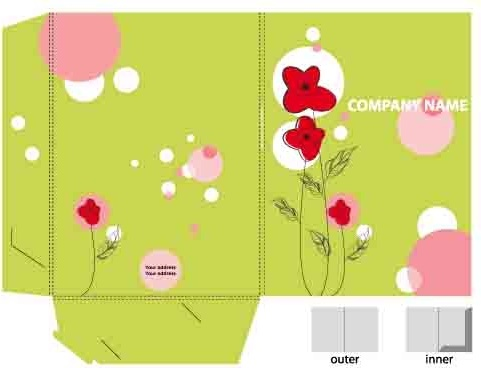 set of layout packing box design elements vector