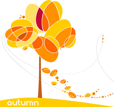 set of leaf fall vector backgrounds vector